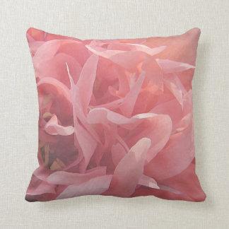 Floral Pink Poppy Flower Throw Pillow