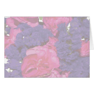 Floral Pink Purple Watercolor Card