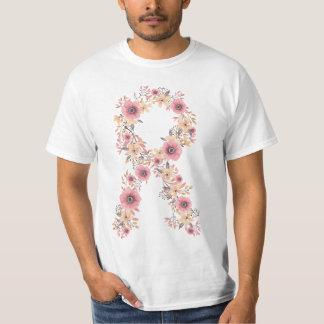 Floral Pink Ribbon T-Shirt