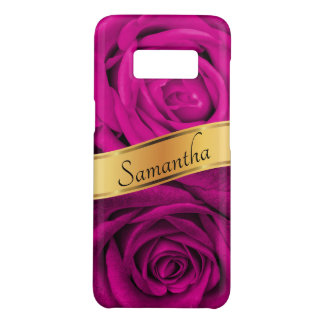 Floral Pink Rose Bouquet, Gold Ribbon Case-Mate Samsung Galaxy S8 Case