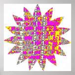 Floral Pink Star Print