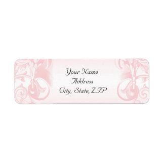 Floral Pink Vintage Return Address Return Address Labels