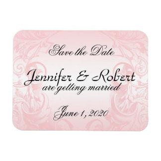 Floral Pink Vintage Wedding Save the Date Rectangular Magnets