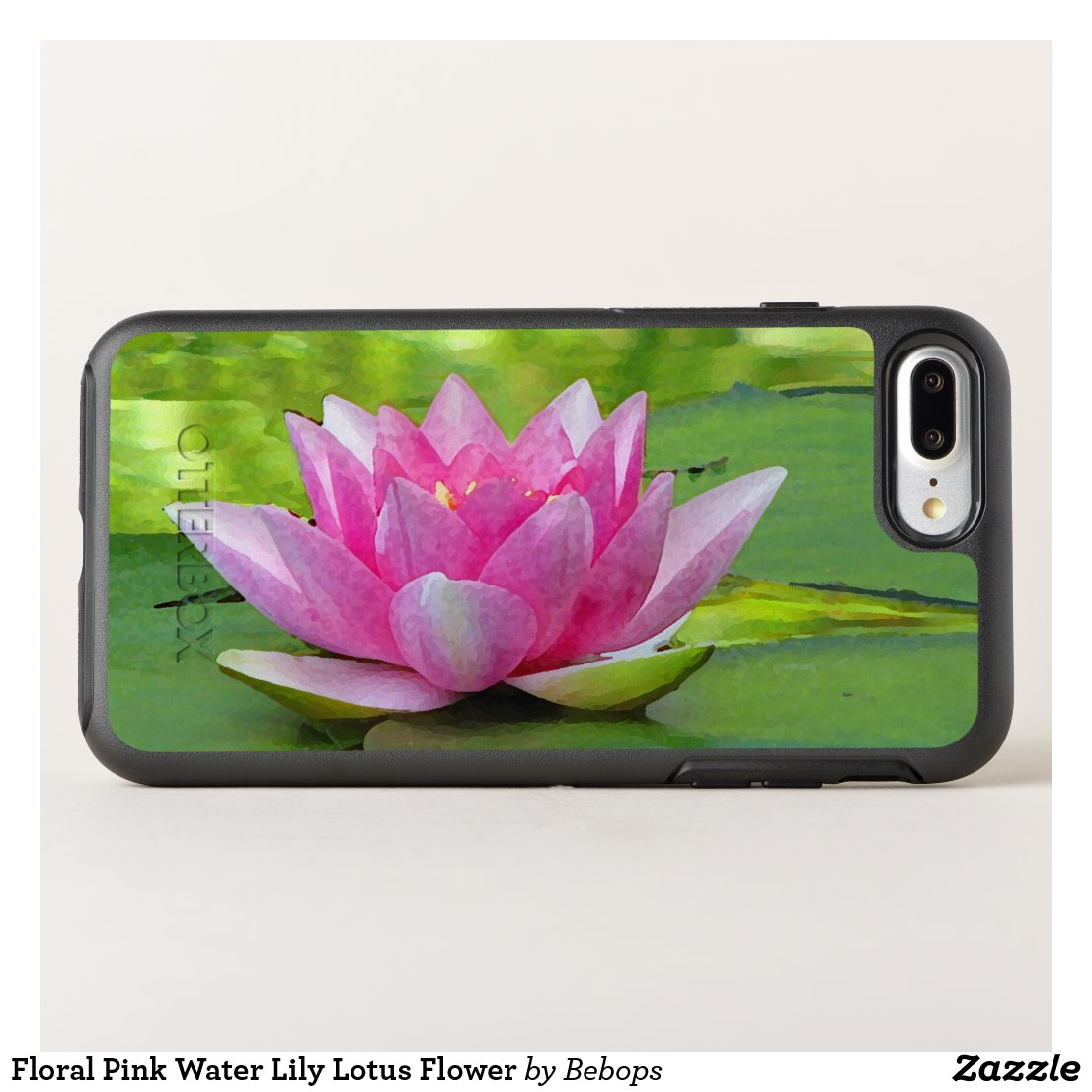 Floral Pink Water Lily Lotus Flower OtterBox Symmetry iPhone 7 Plus Case