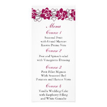 floral pink Wedding menu