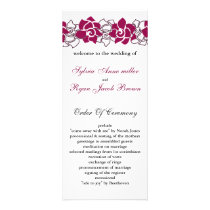 floral pink Wedding program