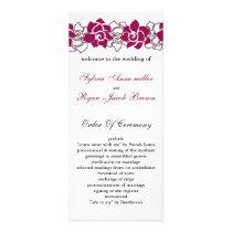floral pink Wedding program