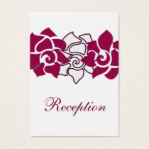 floral pink wedding Reception Cards