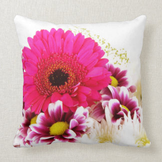 Floral - Pink & White Throw Pillow