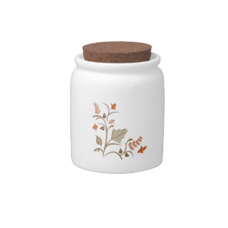Floral Plant Candy Dish