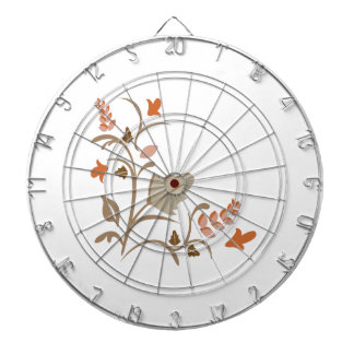 Floral Plant Dartboard With Darts