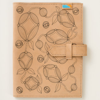 Floral Pod Line Art Design Journal