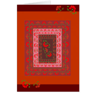 Floral Poppies Card