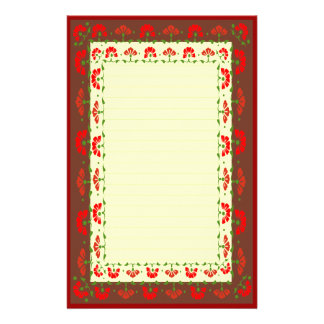 Floral Poppies Stationery