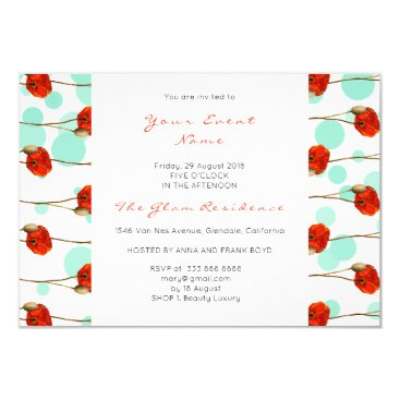 McTiffany Tiffany Aqua Floral Poppy Mint Confetti White Delicate Stripes Card