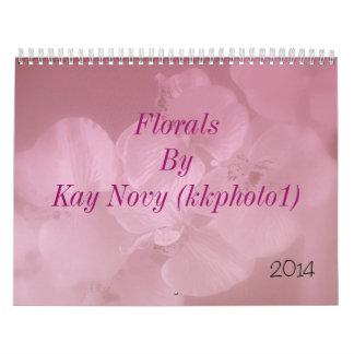 Floral por Kay Novy (kkphoto1) Calendario De Pared