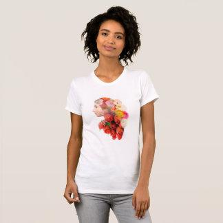 Floral portrait T-Shirt