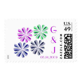 floral postage stamps