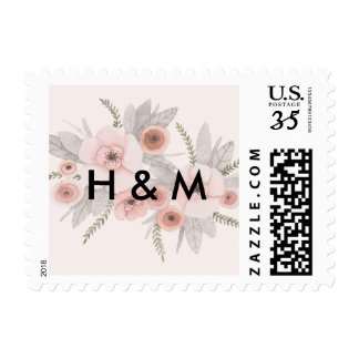 Floral Postage Stamp Destination Wedding