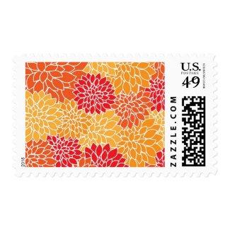 Floral Postage Stamp Postage Stamp