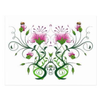 Floral Postcard:    Flower Symmetry Postcard
