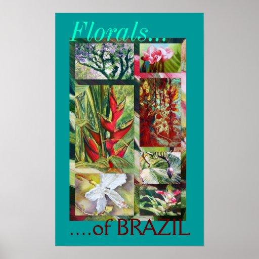 """Floral poster de la bella arte del Brasil"""