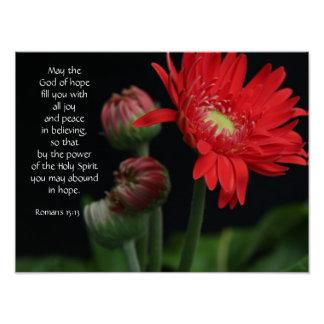 Floral Poster w/ Bible verse about hope and faith