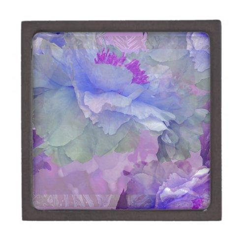 Floral Potpourri with Peonies 4 Keepsake Box