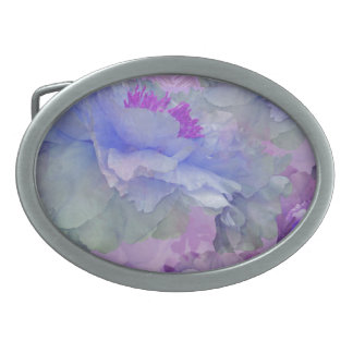 Floral Potpourri with Peonies 4 Oval Belt Buckle