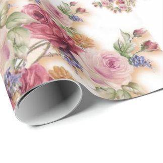 Floral precioso papel de regalo
