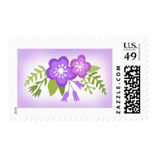 Floral Pretty Purple Hues Postage
