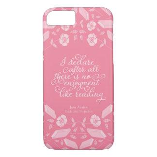 Floral Pride & Prejudice Jane Austen Bookish Quote iPhone 7 Case
