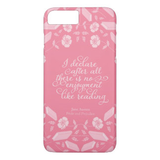 Floral Pride & Prejudice Jane Austen Bookish Quote iPhone 7 Plus Case