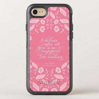 Floral Pride & Prejudice Jane Austen Bookish Quote OtterBox Symmetry iPhone 7 Case