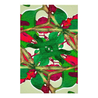 Floral Print Colorful Pattern Stationery