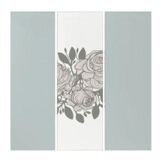 Floral Print Design Triptych