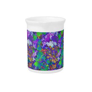 Floral Print Drink Pitcher