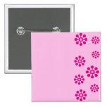 Floral print pinback button