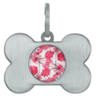 Floral Print Swirls Decorative Design Pet ID Tag