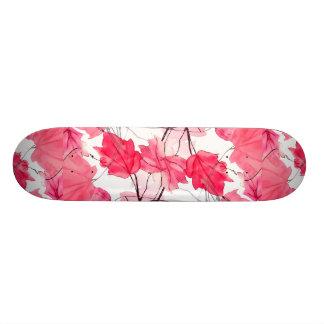 Floral Print Swirls Decorative Design Skateboard Deck