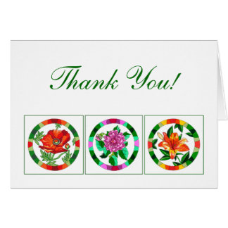 Floral Print Thank You Note Cards