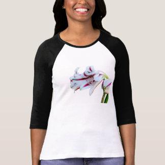 Floral print - white lily tshirts
