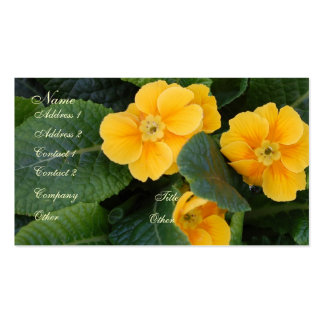 Floral Profile Card Business Cards