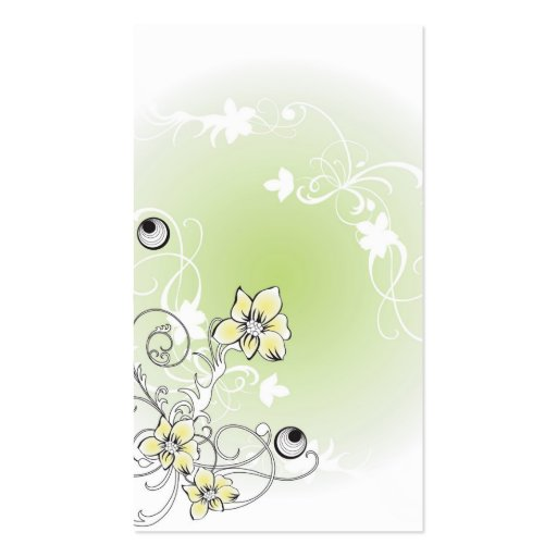 Floral Profile Card Double-Sided Standard Business Cards (Pack Of 100)