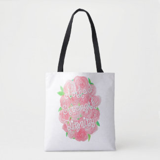 Floral Proverbs 31 Tote Bag