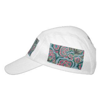Floral psicodélico con efecto del brillo gorras de alto rendimiento