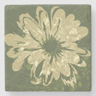 Floral psicodélico del vintage del acuario posavasos de piedra