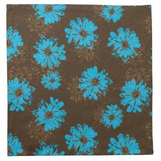 Floral psicodélico del vintage del acuario servilleta imprimida