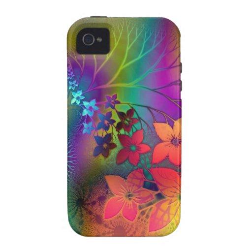 Floral psicodélico iPhone 4 funda
