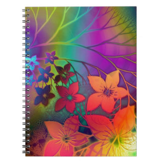 Floral psicodélico libretas espirales